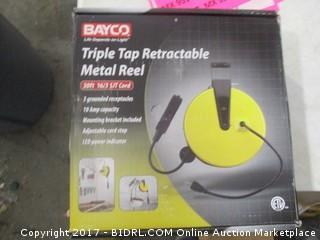 Triple Top Retractable Metal Reel