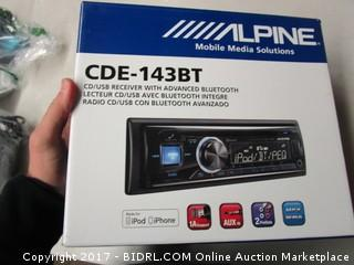 CDE-143BT Alpine Mobile Media Solutions CD/USB Receiver with Advance Bluetooth