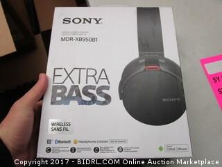 Sony Extra Bass Stereo Headset MDR-XB950B1