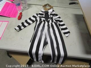 Beetle Juice Costume Medium