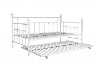 DHP Manila Metal Framed Daybed with Trundle, Twin - White (Retail $169.00)