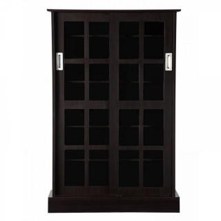Atlantic 94835721 Glass Door Cab Espresso (Retail $139.00)
