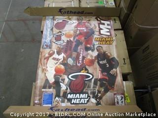 NBA Miami Heat Dwyane Wade Hero Pack Fathead Real Big Decals (Retail $65.00)