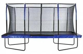 "Upper Bounce Easy Assemble ""Spacious"" Rectangular Trampoline with Fiber Flex Enclosure Feature, 8 x 14-Feet (Retail $1,312.00)"