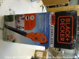 Black + Decker Cordless Blower Please Preview