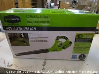 Greenworks Cordless Blower Please Preview
