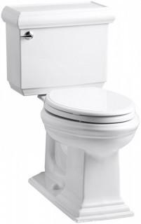 KOHLER Memoirs Comfort Height Two-Piece Elongated 1.28 gpf Toilet with Classic Design, White (Retail $468.00)