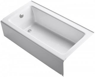 KOHLER Bellwether Bath with Integral Apron and Left-hand Drain, White (Retail $786.00)