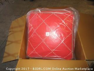 Diamond SQ. Pouf Red