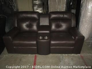 Grove Power Loveseat Console MSRP $4020 Please Preview, No Power Adapter