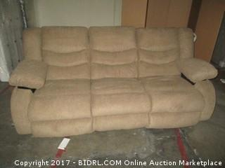 Double Recliner Sofa MSRP $1300.00 Please Preview