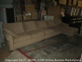 Sectional with chaise MSRP $3534.00 Please Preview