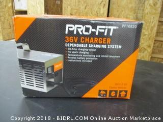 Pro-Fit 36 Volt Charger - MSRP $359.00 - FACTORY SEALED