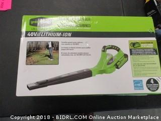 Greenworks Cordless Blower