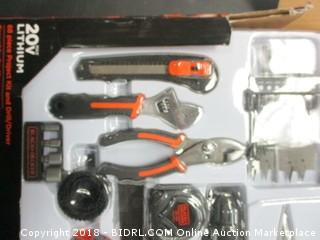 68 Piece Project Kit and Drill Driver
