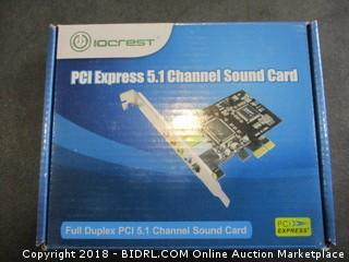 IoCrest PCI Express 5.1 Channel Sound Card