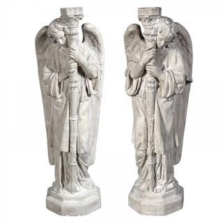 Design Toscano Set of Padova Guardian Angel Statues (Retail $454.00)
