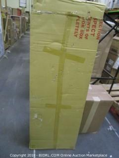Leslie Dame CDV-1000BLK High Capacity Oak Veneer Multimedia Storage Rack, Black (Retail $187.00)