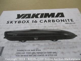 Yakima SkyBox Carbonite Cargo Box (Retail $495.00)
