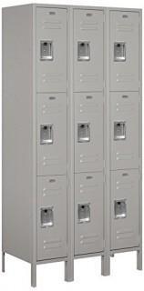 Salsbury Industries 63368GY-U Triple Tier 36-Inch Wide 6-Feet High 18-Inch Deep Unassembled Standard Metal Locker, Gray (Retail $598.00)