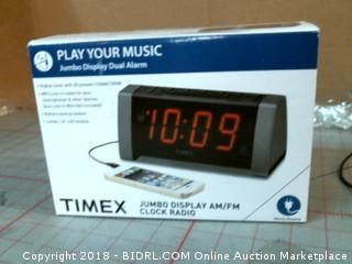 Timex Jumbo Display AM/F Clock Radio