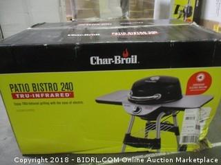 Char Broil 17602048 TRU Infrared Patio Bistro Electric Grill, Black (Retail $168.00)