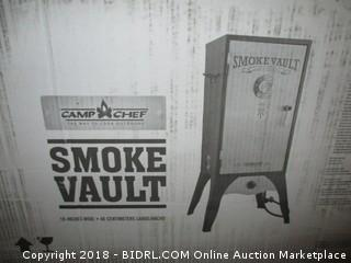 Camp Chef Smoker 18-Inch Smoke Vault Large with Stainless Door and Adjustable Shelves (SMV18S) (Retail $182.00)