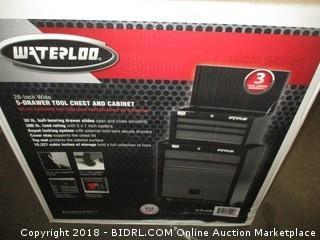 """Waterloo W100 Series 5-Drawer Rolling Tool Center, 26"""" (Retail $159.00)"""