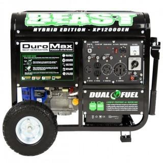 DuroMax XP12000EH Dual Fuel Portable Generator (Retail $1,152.00)