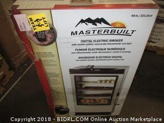 Masterbuilt 20075315 Front Controller Smoker with Viewing Window and RF Remote Control, 40-Inch (Retail $311.00)