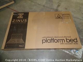 Zinus Full Upholstered diamond Stitched Platform Bed