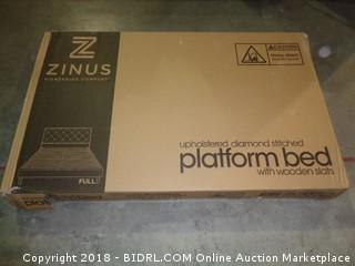 Zinus Upholstered diamond Stitched Platform Bed full