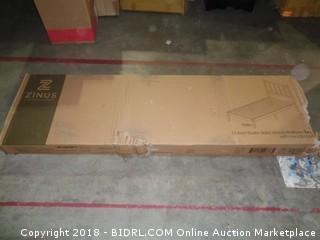 Zinus Twin 12 Inch Rustic Solid wood Platform Bed with Headboard