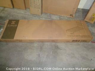 Zinus 12 Inch Rustic solid Wood Platform bed with headboard