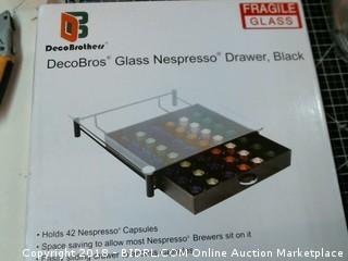 deco Bros Glass Nespresso Drawer