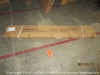 Full  Metal and Wood slat Platform Foundation Bed Frame