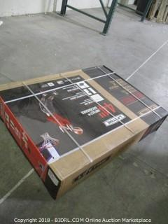 Lifetime 1221 Pro Court Height Adjustable Portable Basketball System, 44 Inch Backboard (Retail $111.00)