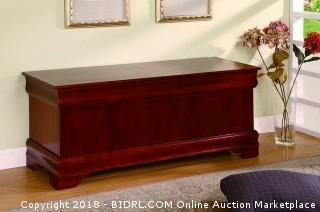 Coaster Cedar Chest, Cherry (Retail $247.00)