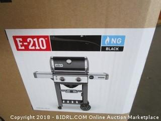 Weber 65010001 Genesis II E-210 Natural Gas Grill, Black (Retail $499.00)