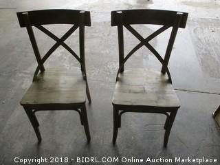 World Market 2 Bistro Chairs