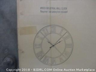 Reed Industrial Wall Clock