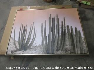 Cactus Art w/ Gold Frame