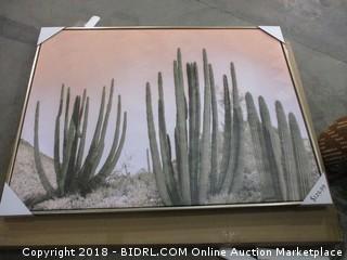 Cactus Art w/ Gold Frame MSRP $129.99