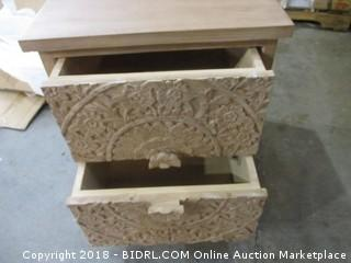 Zaria Natural Nightstand