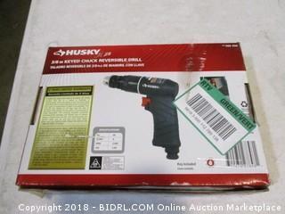 Husky Keyed Chuck Reversible Drill