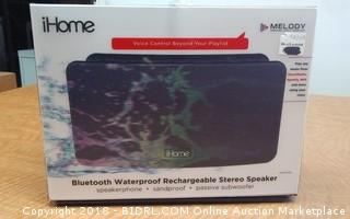 iHome Bluetooth Waterproof Rechargeable Stereo Speaker