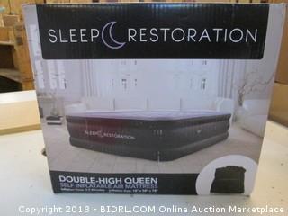 Sleep Restoration Double High Queen Self Inflatable Air Mattress