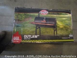 Char-Griller 2137 Outlaw 1063 Square Inch Charcoal Grill / Smoker (Retail $164.00)