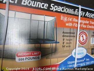 "Upper Bounce Easy Assemble ""Spacious"" Rectangular Trampoline with Fiber Flex Enclosure Feature (Retail $609.00)"
