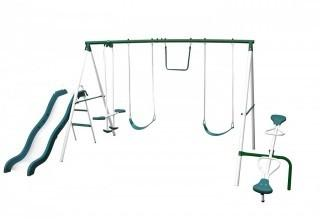 Sportspower Live Oak Metal Swing and Slide Set (Retail $215.00)